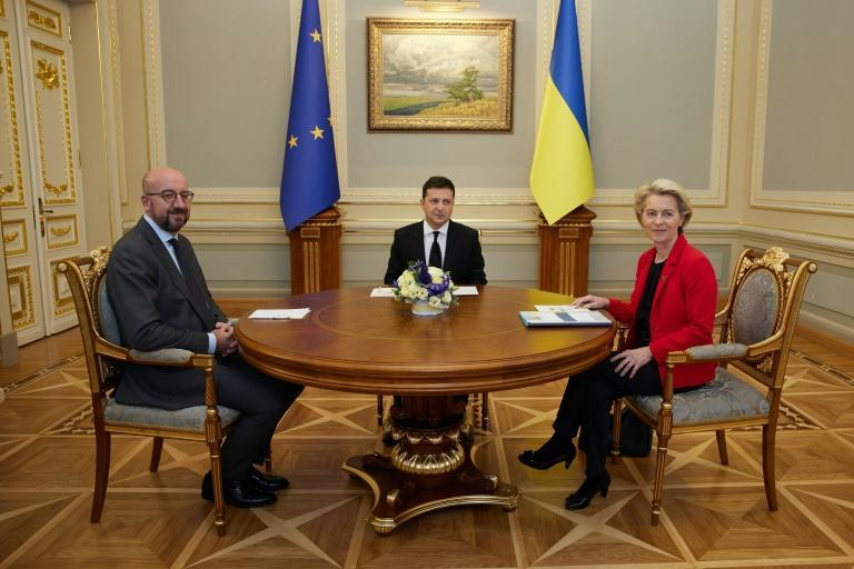 Ukrainian President Volodymyr Zelensky on Tuesday demanded more support from European leaders against Russia but came away from talks with few practical measures (AFP/Handout)