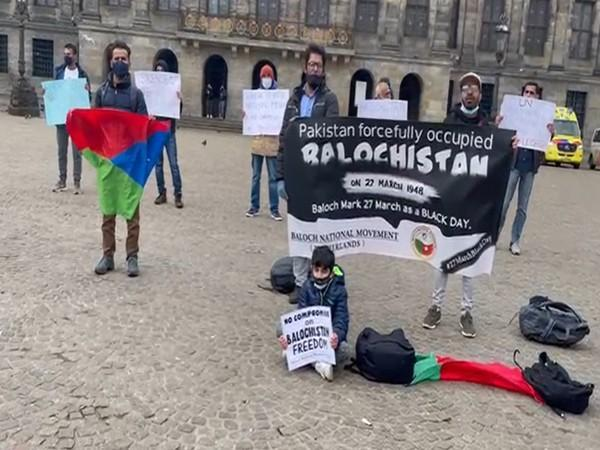 Supports of the Baloch National Movement (BNM) carried out protest March in Germany, Holland and South Korea on the occasion of March 27.
