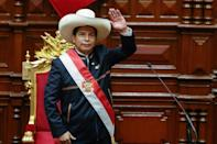 Peru's new President Pedro Castillo said he would seek to replace the free market-friendly constitution