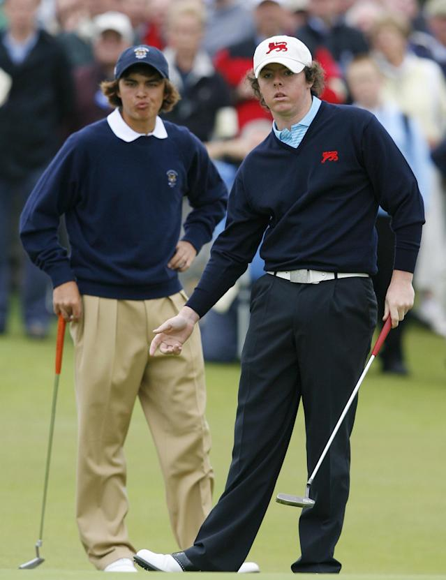 Before the young guns started to go at it in the pro ranks, they clashed at Royal County Down. Fowler, alongside Billy Horschel, beat McIlroy (paired with Jonny Caldwell) in Sunday morning foursomes, as the Americans pulled out a 12.5-11.5 victory.