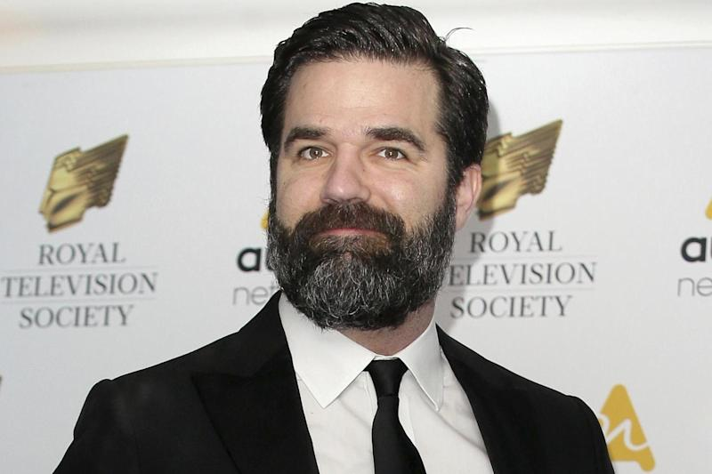 Tragedy: Rob Delaney made the announcement on Facebook: AP