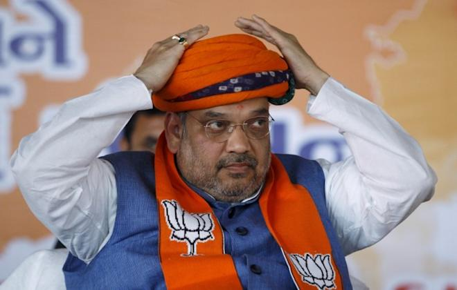 India's ruling Bharatiya Janata Party (BJP) president Amit Shah