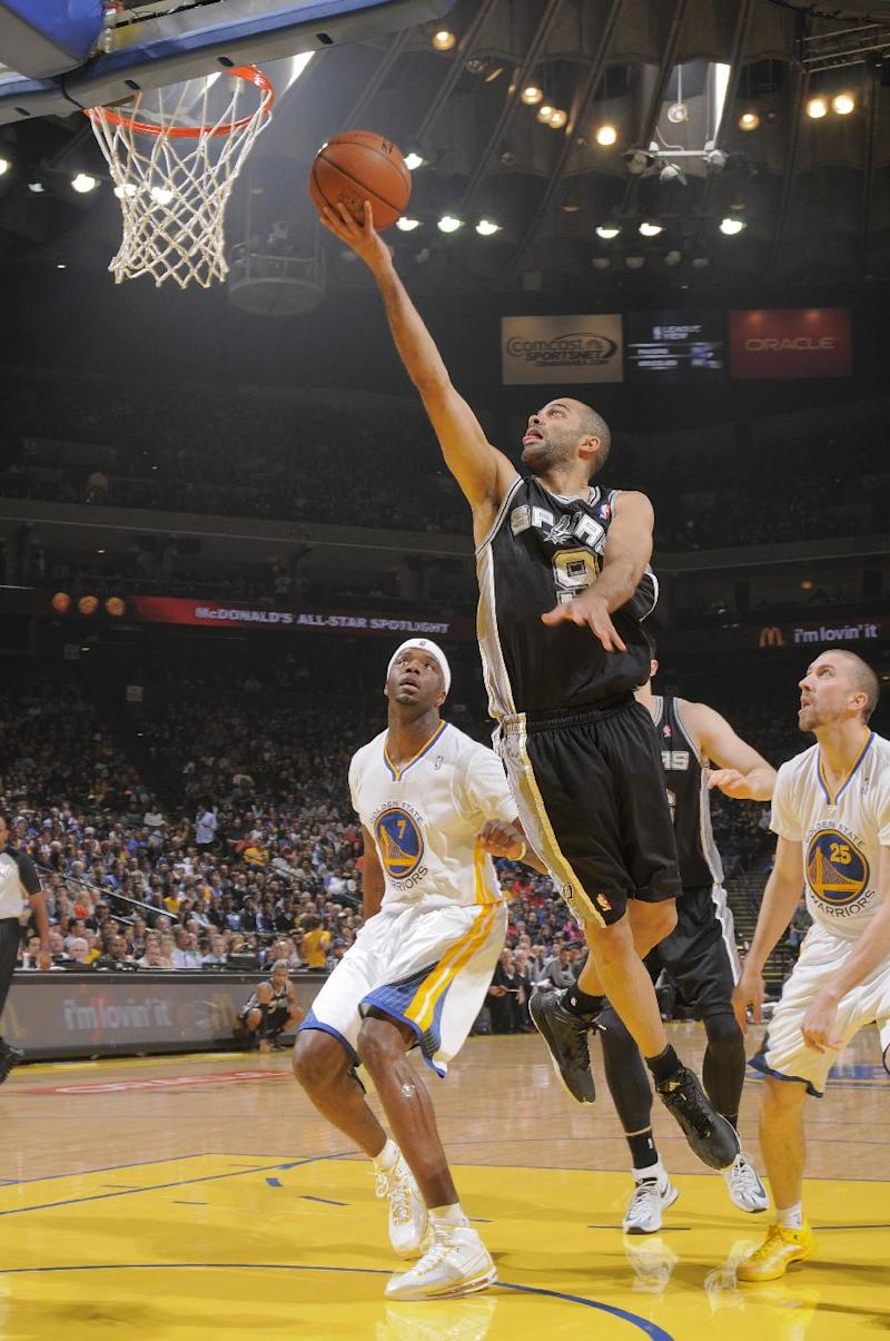 Short-handed Spurs outlast Warriors 99-90
