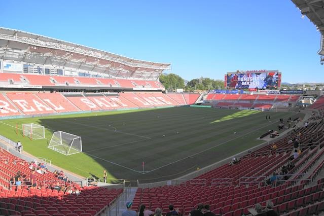 The NWSL wants to fill the sports void with a month-long tournament hosted by the Utah Royals near Salt Lake City. (Daniela Porcelli/Getty Images)