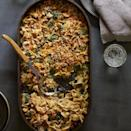 "<p>Homemade mushroom sauce kicks the can of soup out of the picture in this veggie-centric, healthy riff on a classic tuna-noodle casserole recipe. Serve with steamed green beans. <a href=""http://www.eatingwell.com/recipe/251253/spinach-tuna-noodle-casserole/"" rel=""nofollow noopener"" target=""_blank"" data-ylk=""slk:View recipe"" class=""link rapid-noclick-resp""> View recipe </a></p>"