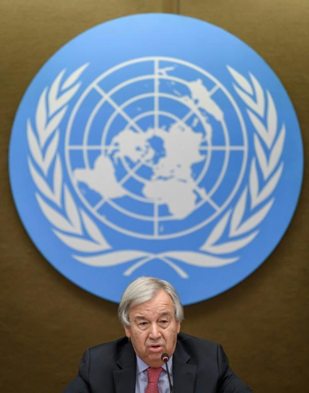 UN Secretary-General Antonio Guterres urged the international community to engage with Afghanistan's Taliban (AFP/Fabrice COFFRINI)