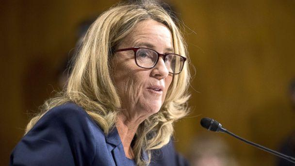 PHOTO: Christine Blasey Ford testifies during the Senate Judiciary Committee hearing on the nomination of Brett M. Kavanaugh to be an associate justice of the Supreme Court of the U.S., on Capitol Hill, Sept. 27, 2018, in Washington, DC. (Tom Williams-Pool/Getty Images)