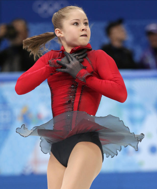 Julia Lipnitskaya of Russia competes in the women's free skate figure skating finals at the Iceberg Skating Palace during the 2014 Winter Olympics, Thursday, Feb. 20, 2014, in Sochi, Russia. (AP Photo/Bernat Armangue)