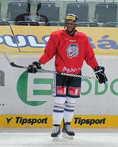 Wayne Simmonds during a morning practice with Liberec of the Czech League. (#NickInEurope)