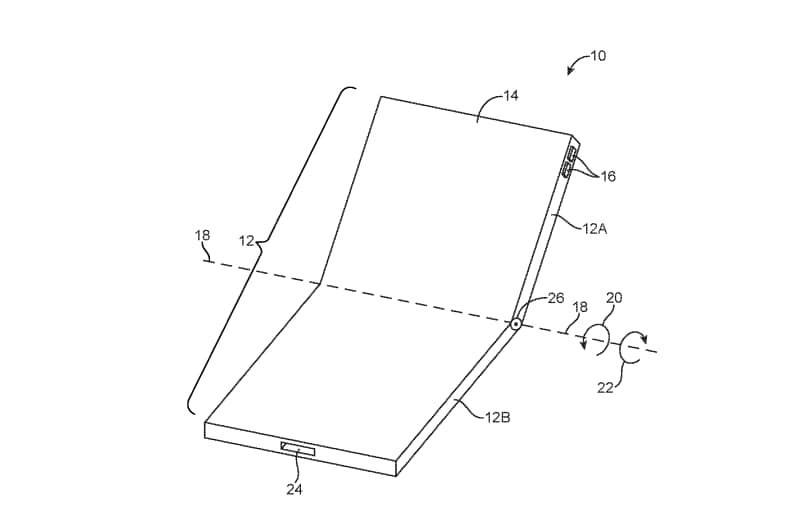 This is the second patent Apple has filed for a foldable phone