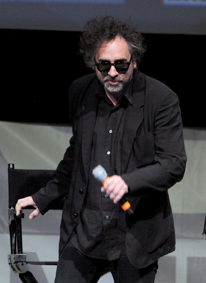 "SAN DIEGO, CA - JULY 12:  Director/producer Tim Burton speaks at the ""Frankenweenie"" panel during Comic-Con International 2012 at San Diego Convention Center on July 12, 2012 in San Diego, California.  (Photo by Kevin Winter/Getty Images)"