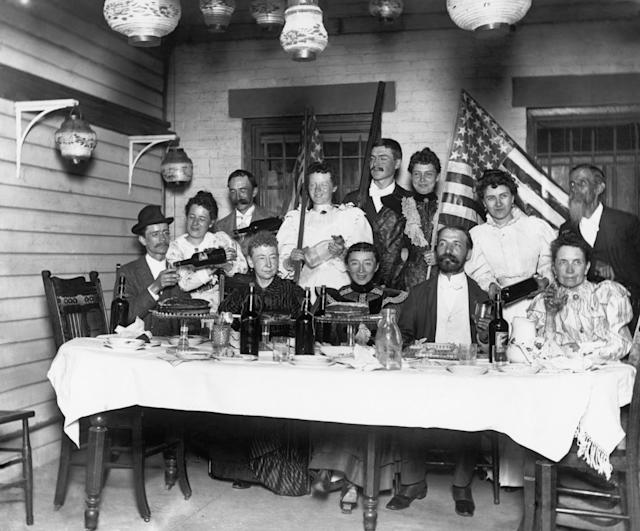 <p>A Fourth of July party in a middle-class home, with plenty of drinks in evidence, 1894. (Photo: Bettmann Archive/Getty Images) </p>