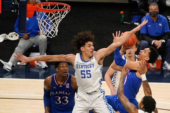 Lance Ware (55) averaged two points and three rebounds in 12 minutes per game last season as a freshman.