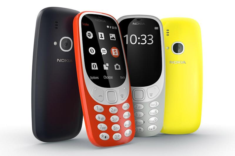 Old-school: Nokia's new version of the classic 3310 handset