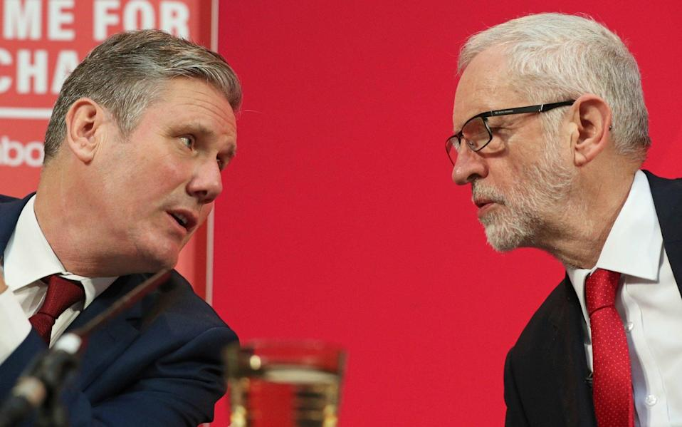 Sir Keir Starmer said he was 'disappointed' in Jeremy Corbyn's statement - Jonathan Brady/PA