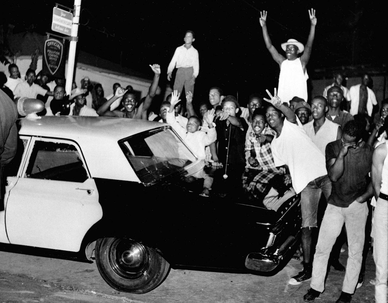 www.yahoo.com: AP Was There: Watts riots erupt in Black LA neighborhood