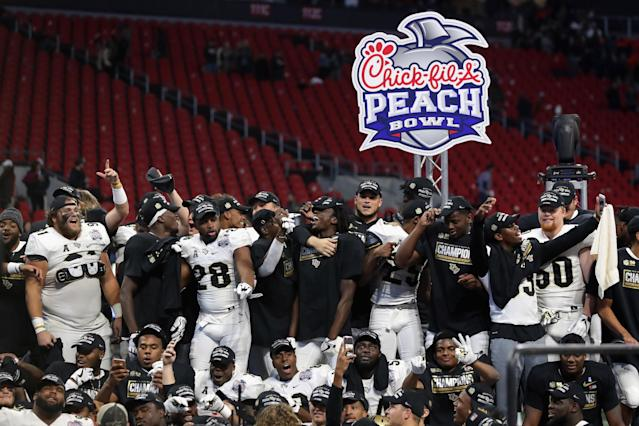 The NCAA has officially recognized UCF's national championship last season in the record book, ending the debate among college football fans. (Getty Images)