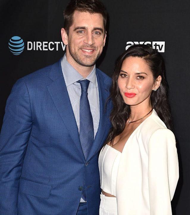 """Aaron Rodgers's family claimed that Olivia Munn was """"controlling.' (Photo by C Flanigan/Getty Images)"""