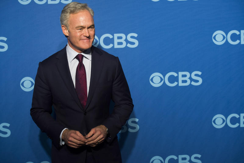 "FILE - This May 15, 2013 file photo shows Scott Pelley, anchor of ""CBS Evening News,"" at the CBS Upfront in New York. (Photo by Charles Sykes/Invision/AP, File)"