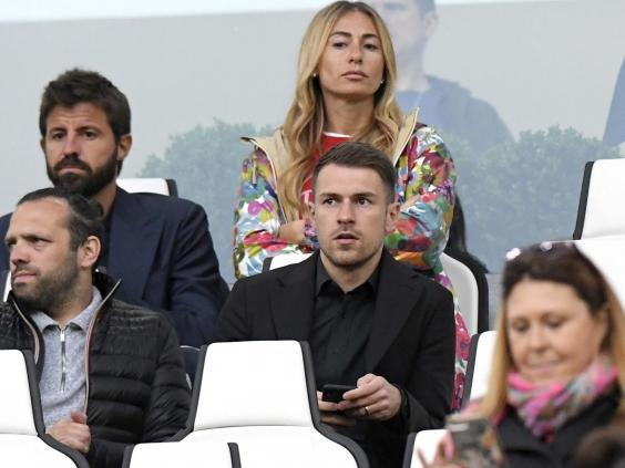 Aaron Ramsey watches Juventus vs Atalanta (Getty )