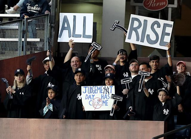 New York introduced the Judge's Chambers in the right field bleachers of Yankee Stadium this week. (Getty Images)