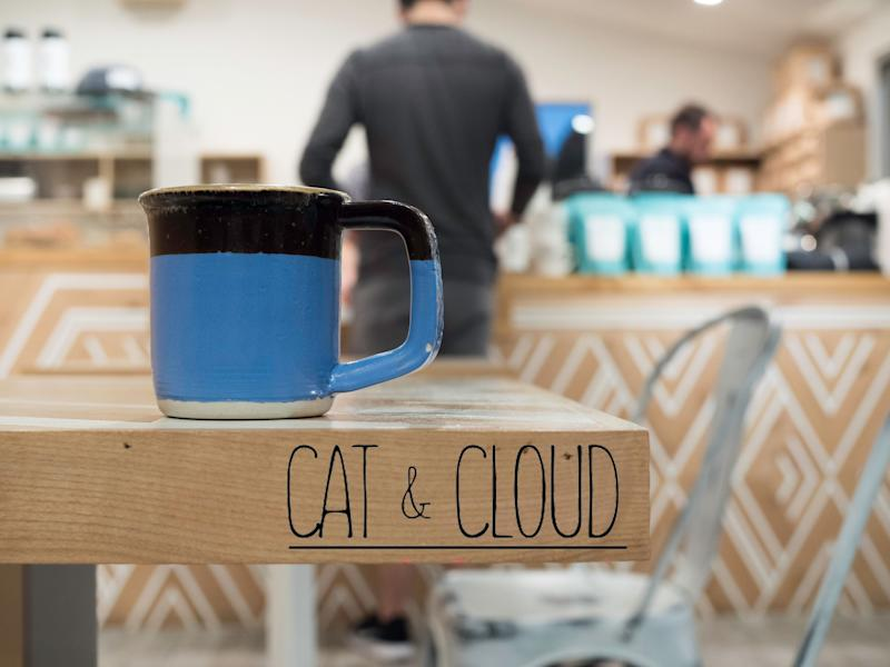 Cat & Cloud mug