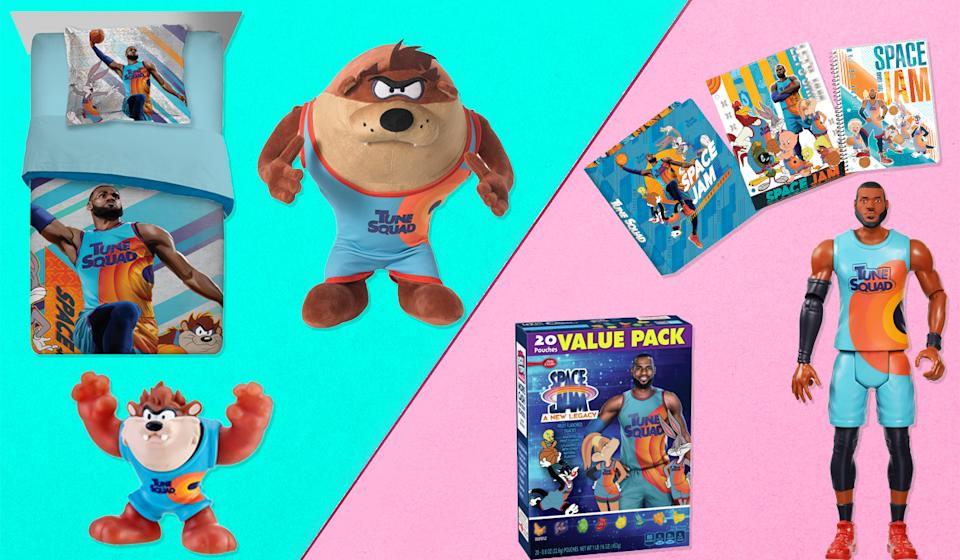 Your kids can eat, sleep and study Space Jam: A New Legacy (Photo: Walmart)