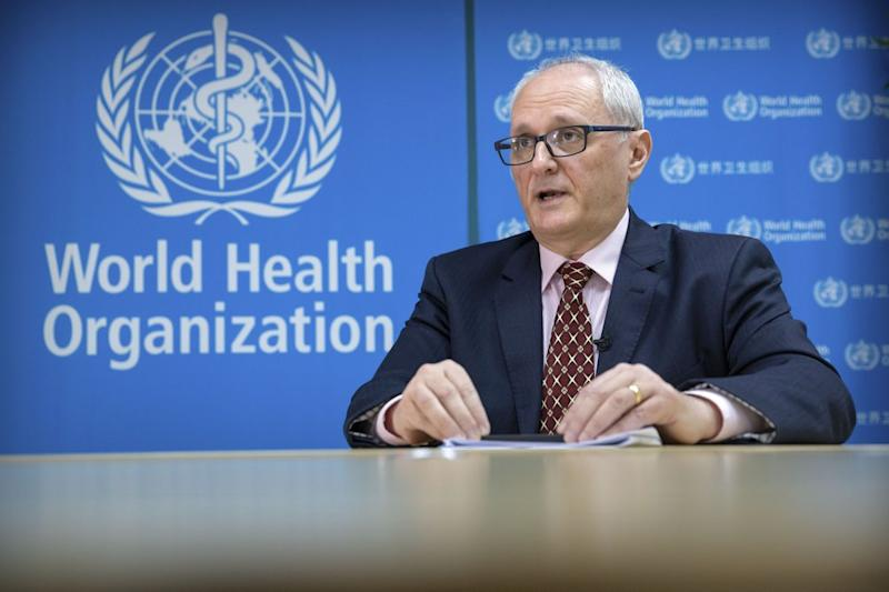 Pictured is Dr Gauden Galea of the World Health Organisation (WHO).