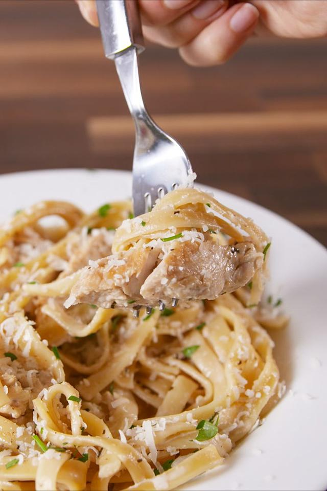 """<p>If you don't already have an Instant Pot, you'll want one now.</p><p>Get the recipe from <a rel=""""nofollow"""" href=""""https://www.delish.com/cooking/recipe-ideas/recipes/a57905/instant-pot-chicken-alfredo-recipe/"""">Delish</a>.</p><p><strong><em>BUY NOW: Instant Pot, $129.95, <a rel=""""nofollow"""" href=""""https://www.amazon.com/Instant-Pot-Plus-60-Programmable/dp/B01NBKTPTS/?tag=delish_auto-append-20&ascsubtag=[artid