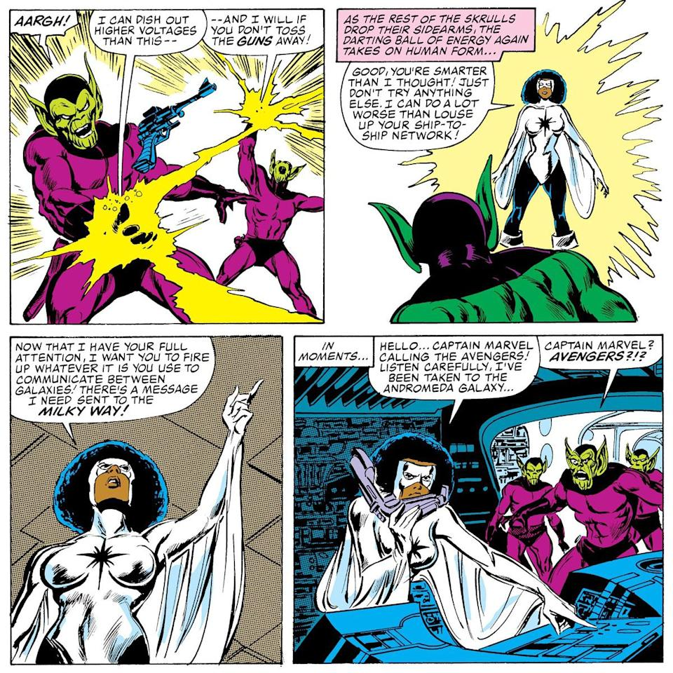 Skrulls and Monica Rambeau in Marvel Comics