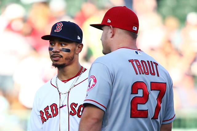 Sorry, Mike Trout. Jeff Passan thinks Mookie Betts is the 2018 AL MVP. (Getty Images)