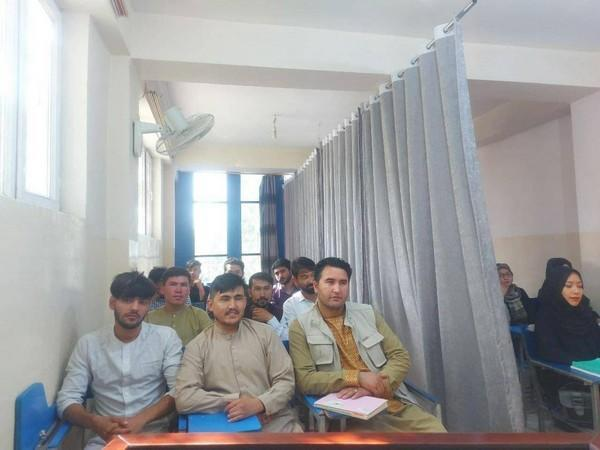 Partition in University classrooms. (Photo Credit - Twitter/Pajhwok Afghan News)