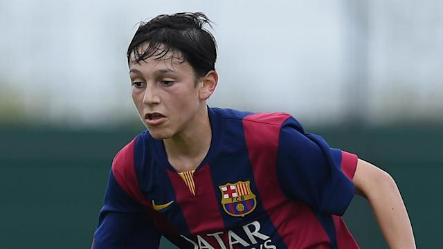 The highly-rated 15-year-old full-back will head to north London after rejecting a contract offer from the Camp Nou outfit