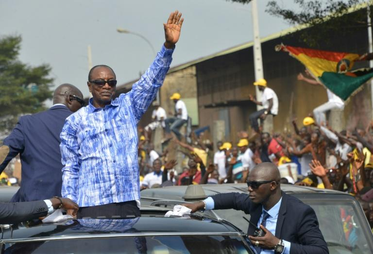 12 candidates vie with Conde for Guinea's presidency