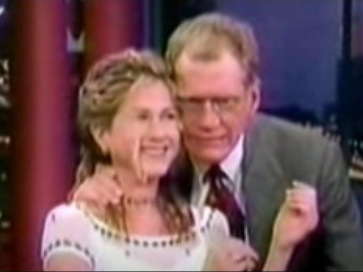 Jennifer Aniston on Late Night with David Letterman in 1998 (YouTube)