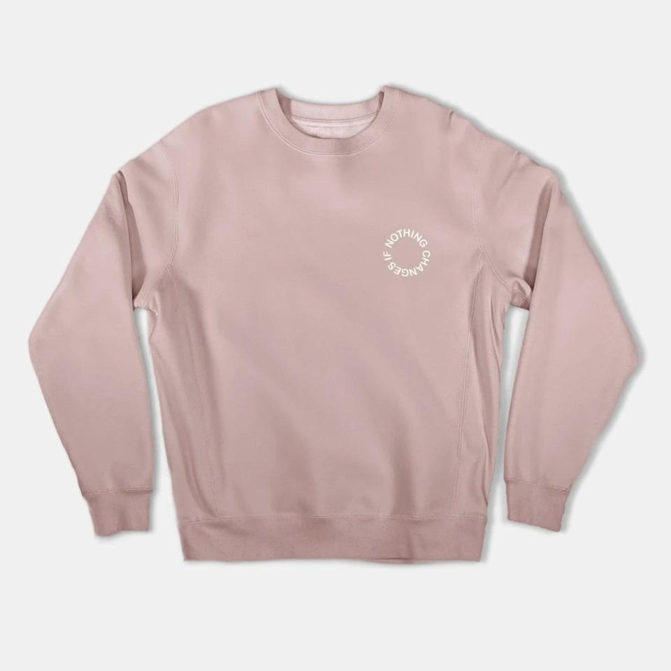 """Asian American-owned fashion brand Haerfest has T-shirts, hoodies and a hat that you can buy, where 100% of the proceeds will be donated to Stop AAPI Hate. $79, Haerfest. <a href=""""https://haerfest.com/products/crewneck-sweatshirt-1"""" rel=""""nofollow noopener"""" target=""""_blank"""" data-ylk=""""slk:Get it now!"""" class=""""link rapid-noclick-resp"""">Get it now!</a>"""