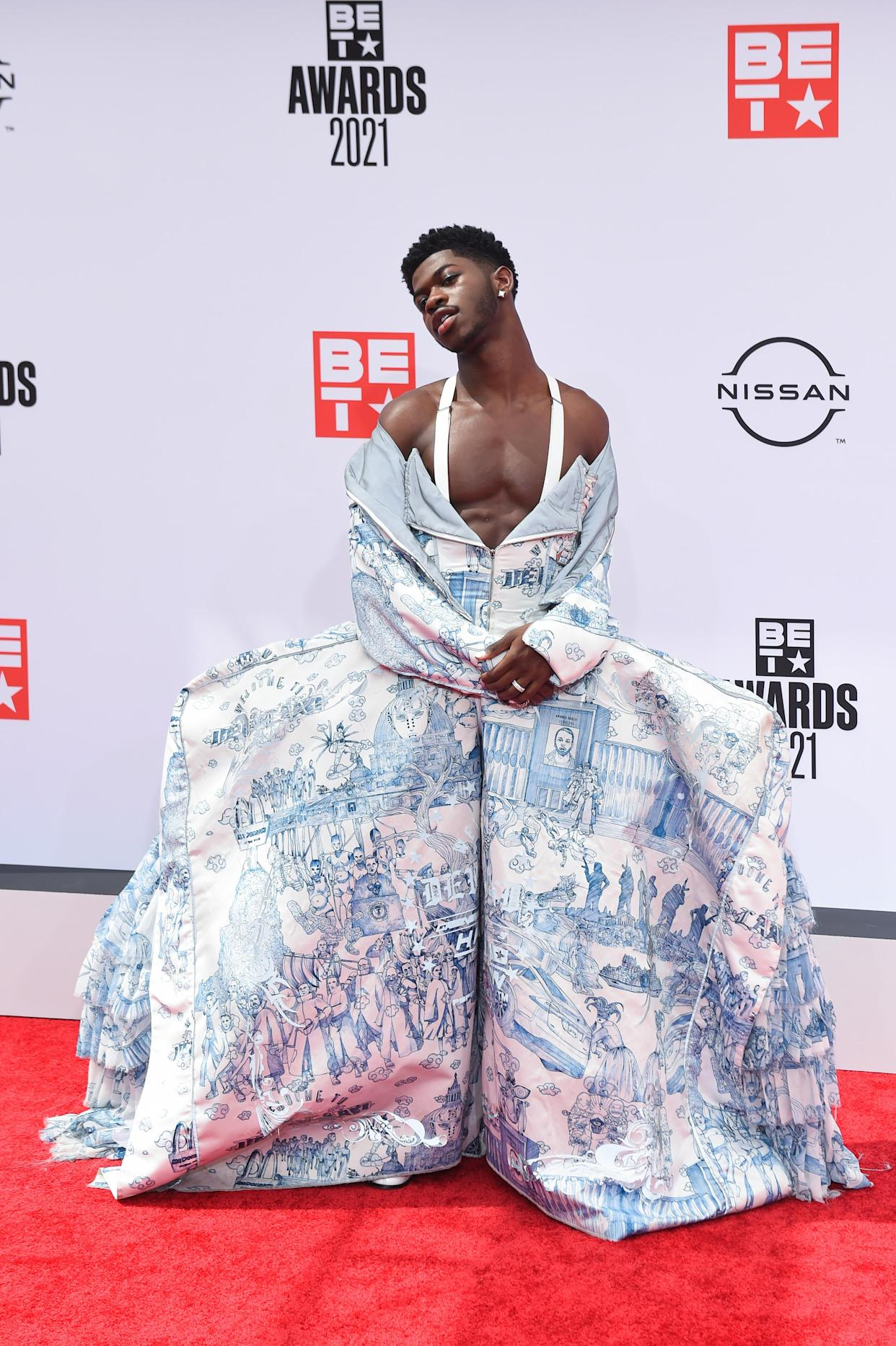 Lil Nas X attends the 2021 BET Awards. (Photo: Aaron J. Thornton/Getty Images)