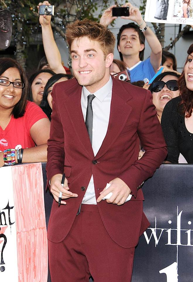 "<i>Life & Style</i> reports that once Robert Pattinson's no longer tied to ""Twilight,"" and ""Breaking Dawn"" wraps, he's going to dump Kristen Stewart. <a href=""http://www.gossipcop.com/robert-pattinson-kristen-stewart-break-up-breaking-down/"" target=""new"">Gossip Cop</a> has the shocking truth. Mark Sullivan/Steve Granitz/<a href=""http://www.wireimage.com"" target=""new"">WireImage.com</a> - June 24, 2010"