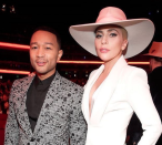 <p>Lady Gaga showed off her chic side in this white and subtly accentuated blazer. [Photo: Lady Gaga/ Instagram] </p>