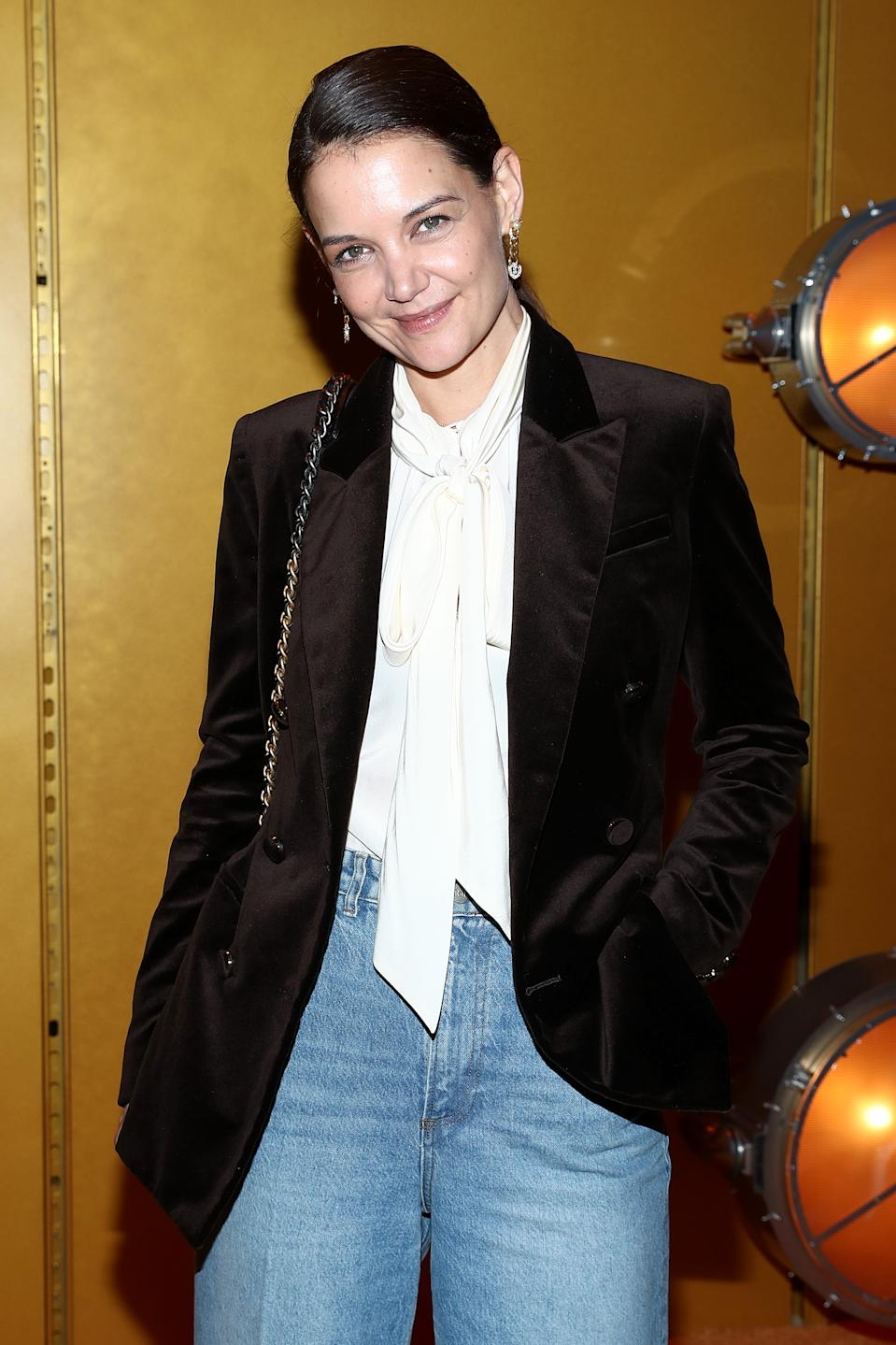 NEW YORK, NEW YORK - FEBRUARY 10: Katie Holmes attends the Zimmermann fashion show during February 2020 - New York Fashion Week: The Shows at SIR Stage37 on February 10, 2020 in New York City. (Photo by Cindy Ord/Getty Images for NYFW: The Shows)