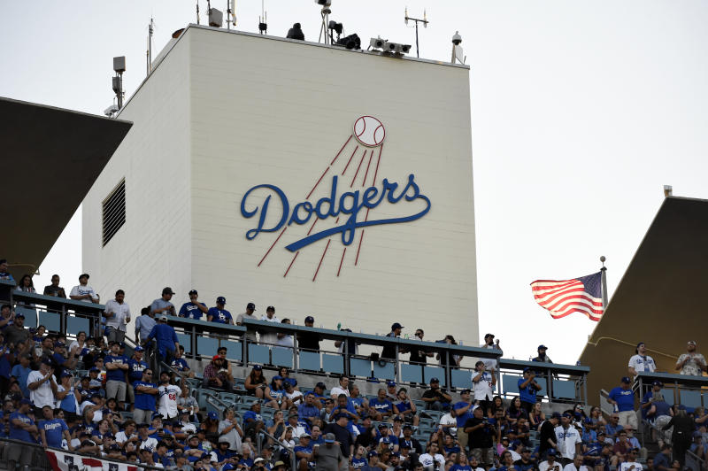 A fan who suffered a fractured skull in a Dodger Stadium attack is suing the Dodgers. (Photo by LG Patterson/MLB via Getty Images)