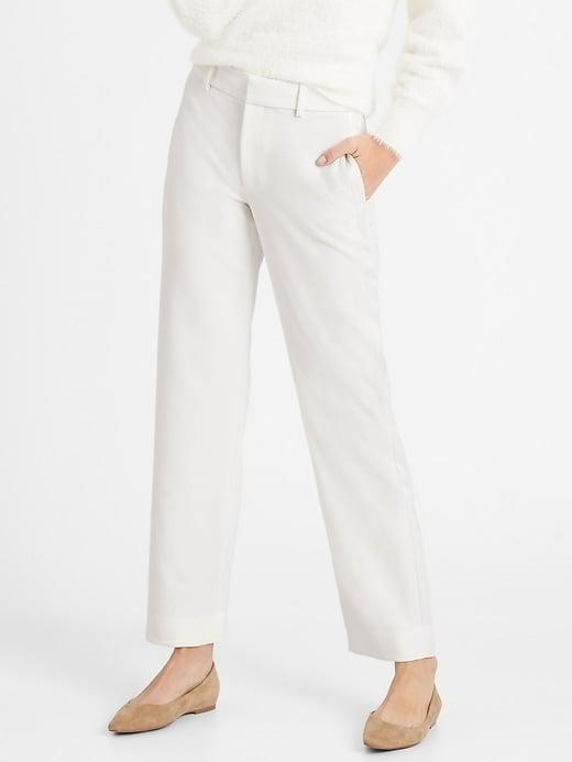 <p>This <span>Banana Republic High-Rise Straight Tuxedo Pant</span> ($99) has such a classic fit and can be dressed up or down. Take even more style cues from VP Harris and pair them with your favorite pair of Chuck Taylors!</p>