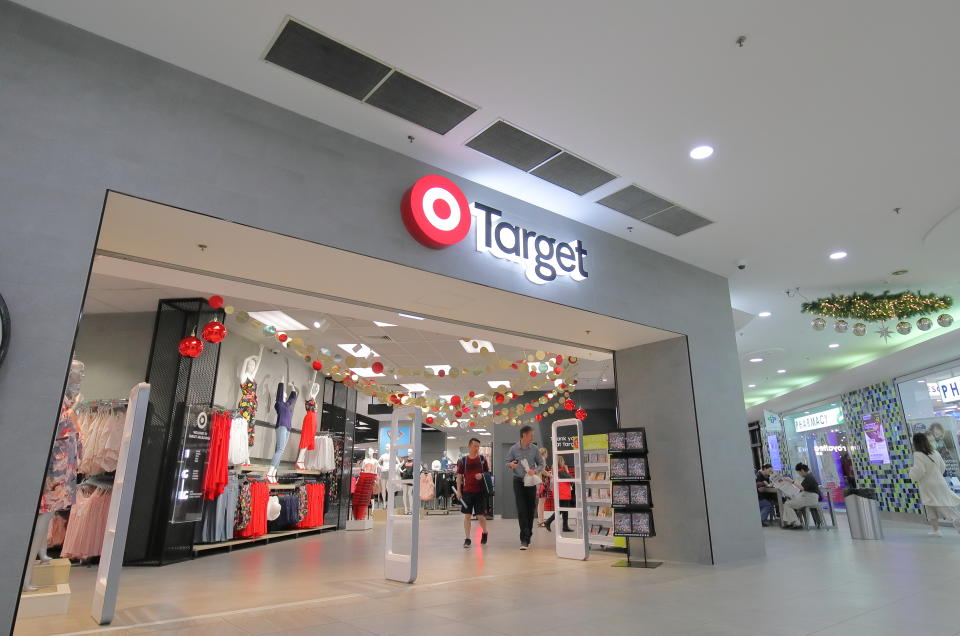 Unidentified people visit Target shopping mall in Melbourne Australia