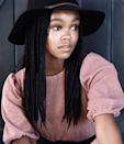 Not very long, but not very short, these medium-length box braids are just right. To get the sealed ends seen here, have your stylist safely burn the ends of your extensions.
