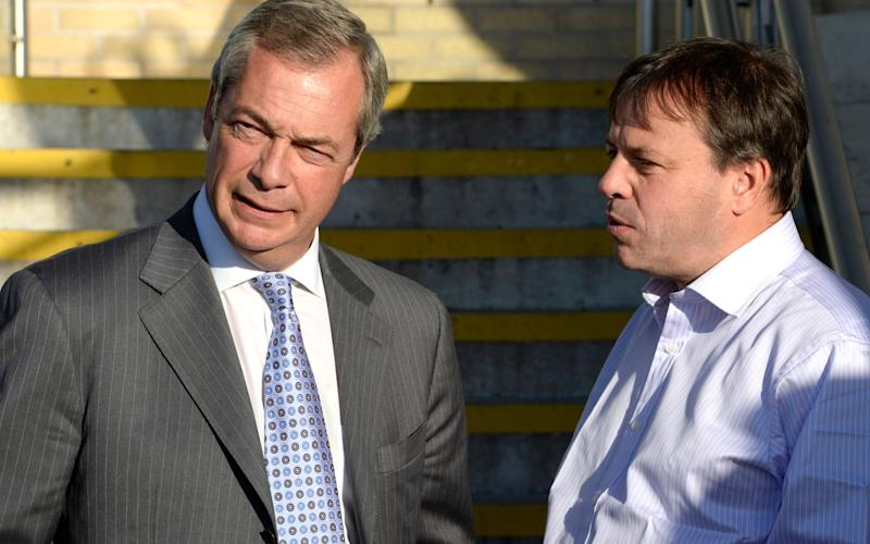 Nigel Farage and Arron Banks fronted the campaign - JULIAN SIMMONDS
