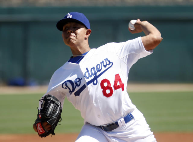 Julio Urias (84) throws the San Diego Padres in spring training. (USA TODAY Sports)