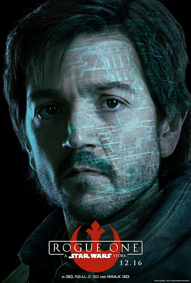 """<p>Rebel pilot and officer specializing in intelligence, Cassian is the stabilizing force of the Rogue team. <a rel=""""nofollow"""" href=""""https://www.yahoo.com/movies/the-rogue-one-cast-explains-who-their-characters-223415540.html"""">As Luna told us</a>: """"He has lots of secrets."""" (Disney/Lucasfilm) </p>"""