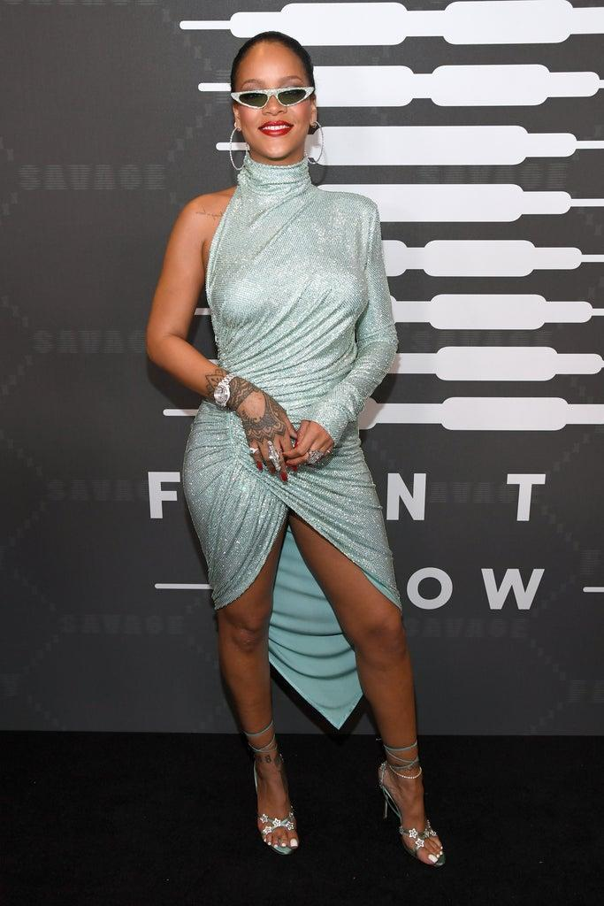 BROOKLYN, NEW YORK – SEPTEMBER 10: Rihanna attends Savage X Fenty Show Presented By Amazon Prime Video – Arrivals at Barclays Center on September 10, 2019 in Brooklyn, New York. (Photo by Kevin Mazur/Getty Images for Savage X Fenty Show Presented by Amazon Prime Video )