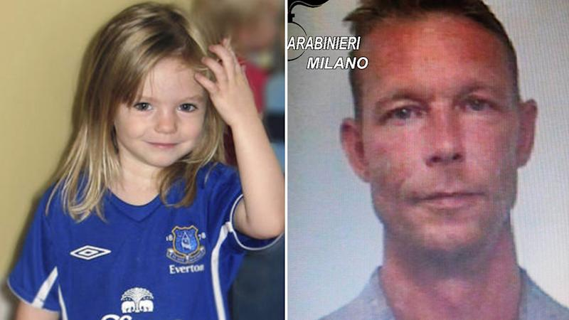 Pictured left is Madeleine McCann. Right is Christian Brueckner. Source: AAP/AP