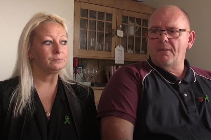 <p>Harry Dunn's parents, Charlotte Charles and Tim Dunn, have campaigned for his alleged killer to be tried in the UK</p>PA